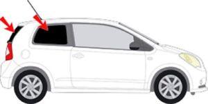 Auto-Sonnenschutz Scheiben-Tönung SEAT Mii ab 11 3-Türer Komplettset keine Folie