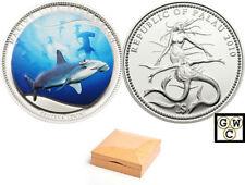Palau Scalloped Hammerhead $1 Coin (silver plated) (12751)