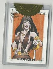Conan the Barbarian Rittenhouse Sketch Card Sketchafex Warren Martineck RARE