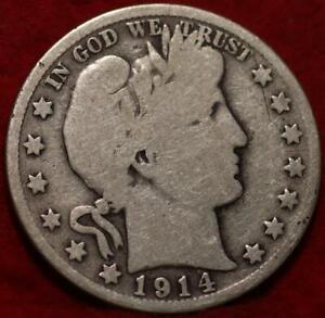 1914-S San Francisco Mint Silver Barber Half Dollar