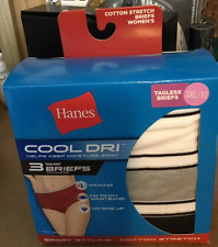 HANES COOL DRI COTTON STRETCH BRIEFS - 3XL / 10 - PACKAGE OF 3  - NEW SPORT STYL