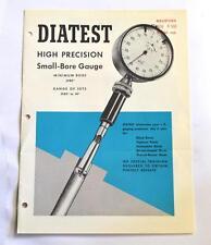 DIATEST HIGH PRECISION SMALL-BORE GAUGE BROCHURE