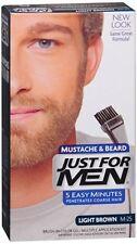 JUST FOR MEN Color Gel Mustache - Beard M-30 Light-Medium Brown 1 Each (2 pack)