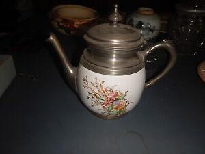 19th Century Victorian Graniteware/Enamelware & Pewter Coffee/Tea Pot.