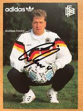 Andreas Köpke AK DFB 1990 Autogrammkarte original signiert