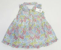NWT Baby Gap Girls Size 3 6 or 6 12 Months Pink Yellow Flower Ruffle Shirt Dress