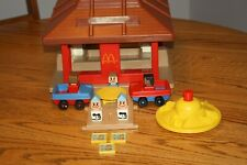 Vintage Playskool Familiar Places McDonald's Playset #430 with Accessories