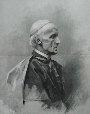 1886 Large Portrait  - Cardinal Henry Manning - Famous Archbishop of Westminster