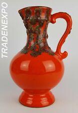 Vintage 1960-70s WALTER GERHARDS Handled Vase 70 28 West German Pottery Fat Lava