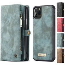 Leather Detachable Zipper Wallet Phone Case For iPhone 11 Pro XS Max XR 8 7 6S