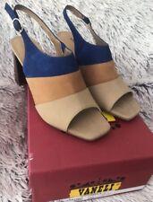 New Vaneli Women's 8 W Taylor Hemp/Castoro/Bluette Sandal Open Toe Heel w/ Strap