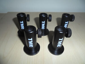 5 x TMC Anodized Aluminium Stage stands with locking nuts, Carp / Coarse Fishing