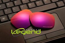 E65 Fucshia ETCHED POLARIZED Replacement Lenses For Oakley HOLBROOK 1.5mm thick