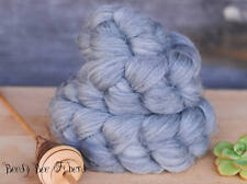 Undyed Natural Grey Merino Combed Top Wool Roving Spinning Felting fiber - 4 oz