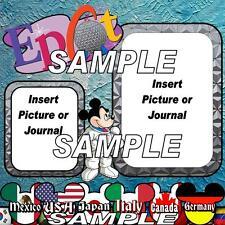 Disney World Epcot Spaceship Earth Digital Scrapbook Pages Set Kit