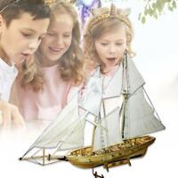 DIY Wooden Sailing Boat Ship Assembly Model Kit Collectables  Home Office-Decor