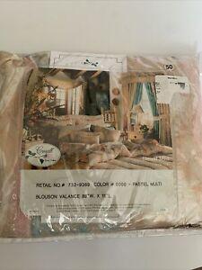 Croscill DESERT MIST Southwestern 89x15L Blush Pink 80s Blouson Valance NWT