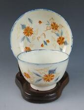 Early English PEARLWARE TEA BOWL & SAUCER Soft Paste LEEDS Porcelain Antique Cup