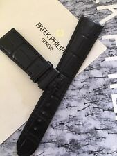 Vintage Patek Philippe Matte Black Alligator Band 20mm With 16mm End