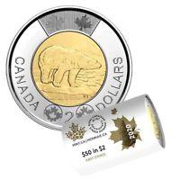 Canada 2020 2 Dollar BU Canadian Toonie Polar Bear UNC From First Strike Roll