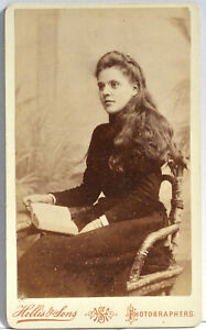 CDV x 1 Portrait of an Elegant Young Lady   1880's