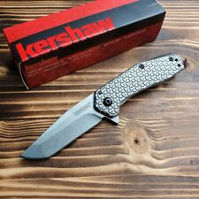 Kershaw 1324 Cathode Stainless Handle 4Cr14 Assisted Open Tanto Folding Knife