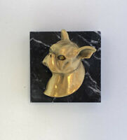 I Am Edgar Berebi  And This Is my Boston Terrier  Dog   Paperweight .125 Retail