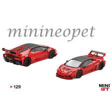 MINI GT MGT00129 LB WORKS LAMBORGHINI HURACAN GT 1/64 DIECAST MODEL CAR RED