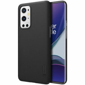 Genuine Nillkin Frosted Shield Black Hard Case Cover for OnePlus 9 Pro