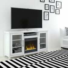 Rossville TV Stand For TVs Up To 60' With Electric Fireplace, White