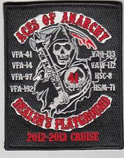 VFA-41 BLACK ACES / ACES OF ANARCHY 2012-2013 CRUISE PATCH