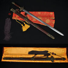 HIGH QUALITY HAND MADE CHINESE SWORD JIAN (剑) FOLDED STEEL BLADE NICE MOUNTINGS