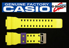 CASIO GA-110HC-6 G-Shock Original Yellow Glossy Rubber Watch Band Strap