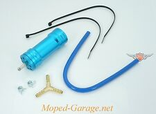 Mofa Moped Mokick Roller Boost Bottle Blau Powerbox Alu Simson Tuning Neu *