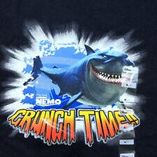 Disney Shark T Shirt Boys 6 Small Tee Navy Finding Nemo Bruce