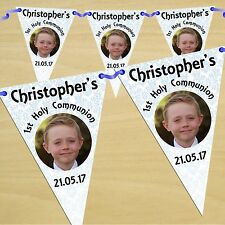 Personalised Boys First Holy Communion Party Flag Banner Bunting N55