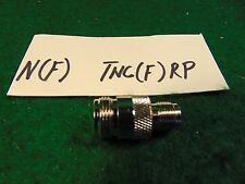 (1) N FEMALE to TNC FEMALE RF Coaxial Adapter NOS