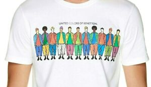 NEW + Tags - Retro Vintage 1980s / 1990s Style - Benetton High Quality T Shirt