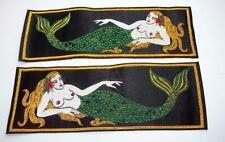 Vintage Set of Mermaid Liberty Cuffs, US Navy