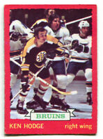 1973-74 OPC Ken Hodge Card #26 Boston Bruins