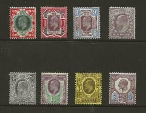 GB EDVII Collection of 8 MINT Hinged Definitives - Values to 1s Minimum Cat £375