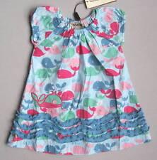 NEW Coco Bonbons Girls 12 Mo Blue Pink Green Whale Print Ruffle Dress