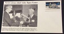 1972 Houston USA cancel space centre visit cover