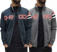 D-Rock Mens Designer Applique Fleece Star Zip Up Jacket, Hip Hop G,Is Time Money