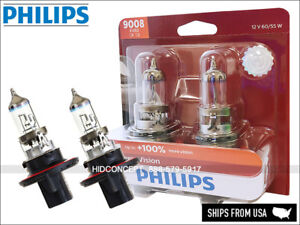 New Gen! 9008 H13 PHILIPS X-treme Vision Bulbs +100% Light 9008XVB2 60/55W 12V
