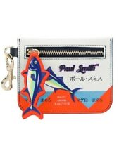 PAUL SMITH Japanese Tuna Print Leather Zip Keyring Wallet /Coin Pouch 🎁