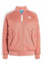 Adidas Originals Women Short Bomber Jacket Warm Padded Raw Pink Coat
