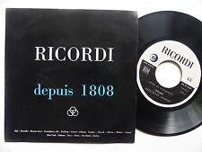 Disque catalogue Promo RICORDI Depuis 1808  AN I 199  45 G 000