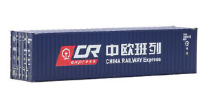 IGRA Model 96020023/2 Container, China Railway Express, blau 40ft, Spur H0