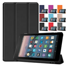 For Amazon Kindle Fire HD 10 8 7 2019 9th Gen Magnetic Slim Leather Smart Case